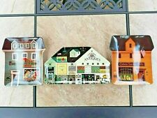 3 Bradford Exchange Charles Wysocki Wall Plates-Plaques Antiques-Quilt-Calvin