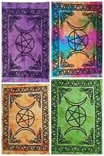 Triple Star Moon Wall Hanging Cotton Fabric Small Tapestry Poster Beautiful Art