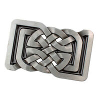 Alloy 3D Celtic Pattern Belt Buckle Rectangle Western Cowgirl Rodeo Novelty