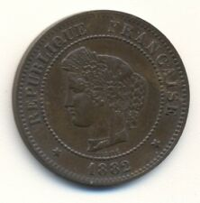 FRANCE 5 centimes, 1882A, XF