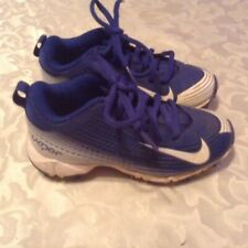Nike shoes Size 11C Vapor baseball softball T ball cleats blue white Girls Boys