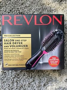 Revlon PRO Collection Salon One Step Hair Dryer and Volumizer Brush Pink -