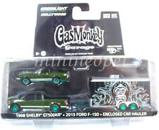 31010 GAS MONKEY GARAGE 2015 FORD F-150 1968 SHELBY GT 500KR 1/64 GREEN MACHINE