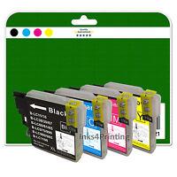 4 Cartuchos de tinta para Brother mfc-j220 J265W J410 J415W NO OEM LC985