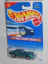 Hot Wheels 1995 Real Riders Series 4/4 Corvette Stingray #321 Green