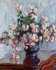 Monet 1882, Chrysanthemums, Fade Resistant HD Art Print or Canvas