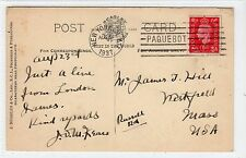 Picture postcard with NEW YORK PAQUEBOT postmark (C14684)