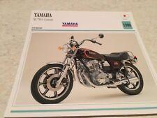 Carte moto Yamaha XS750S Custom XS 750 S US 1980  collection Atlas motorbike
