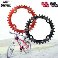 SNAIL 104bcd 32-42T MTB Bike Chainring Round/Oval Narrow Wide Chainwheel Bolts