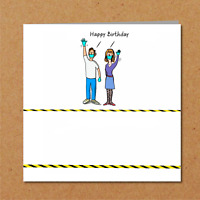 Humorous Lockdown Birthday Card - Funny  Tier 4 Quarantine Amusing From Couple