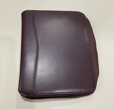 Franklin Covey Brown Faux Leather Classic 7 Ring Binder Zipper Closure 125ring