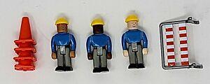 RARE DG Productions PLAYFORCETOYS Worker Set #9006. 3 Workers, Barrier & 4 Cones