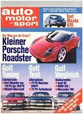 AUTO MOTOR und SPORT 4/1992, Vergleich/Tuning VW Golf, Mazda 626 2.5i V6