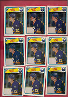 9 X 1988-89 OPC # 40 SABRES LINDY RUFF  CARD