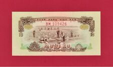 SCARCE 10 XU DONG 1966 (1975) SOUTH-VIETNAM UNC NOTE (P-37a) TRANSITIONAL ISSUE