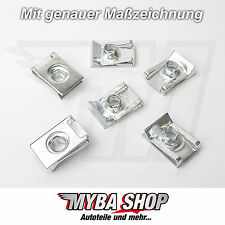 15x supporto in metallo parentesi madre di bloccaggio m8 x 28,2 x 18 FORD MERCEDES #neu #