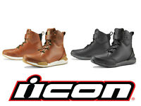 Icon 1000 Varial Motorcycle Street Bike Leather Boots - Pick Size / Color