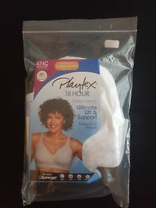 Playtex Women's 18 Hour Ultimate Lift and Support Wire Free, White, Size 42DD dn