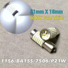Backup Reverse light 1156 BA15S 7506 P21W 2396 1141 SMD LED Bulb 6K White W1 A