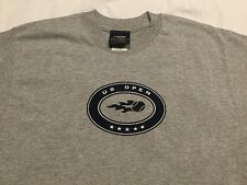 US OPEN Gray Short Sleeves Tee Shirt (USTA Tennis) 90% COTTON ADULT MEDIUM - NEW