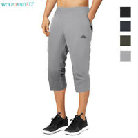 Mens Jogger Sweatpants Cargo Shorts Summer Board Beach Trunks Gym Running Pants