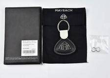 Black New Mercedes Benz Maybach Key Chain Pendant Genuine Leather Logo NEU