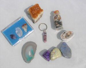 Crystal set gift box Geode Crystal Agate, Amethyst, Agate, Quartz  - Citrine  #1