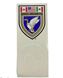 Ducks Unlimited Shield Crest and Duck Head Logo Decal / Sticker