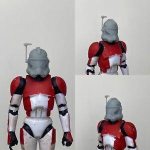 """Custom Star Wars Clone Trooper Captain Rex Realistic Helmet Black Series 6"""" 1/12"""