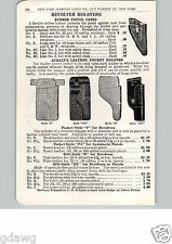 1915 PAPER AD Sudley's Leather Pocket Pistol Holster Officers' Flap