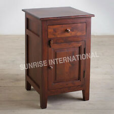 Artistic Wooden Bed side cabinet (1 door, 1 drawer) !!