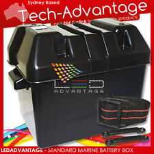 STANDARD SIZE BOAT CARAVAN 4WD 4X4 BATTERY BOX  HOLDER - PROTECT YOUR BATTERY