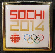 SOCHI 2014 Olympic Canada CBC SPORTS rare STAFF Media square Pin badge
