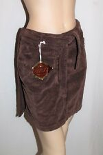 REPLAY Designer Brown Corduroy Wrap Around Skirt Size 10 BNWT #SS85