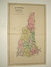 1892 New Hampshire State Map, Not A Reprint