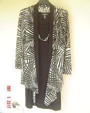 NWT R & M RICHARDS CAREER BLACK BEIGE NECKLACE JACKET DRESS SIZE 16 W WOMEN $98