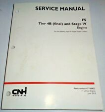 New Holland Case F5 Series Tier 4B Stage IV Engine Service Manual NH Original!