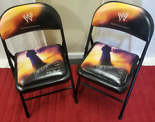Rare 2005 WWE Survivor Series Event Ringside Collectors Chairs w/The Undertaker