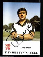 Jörg Berger Autogrammkarte Hessen Kassel AK 80er Jahre Original Signiert +A49422