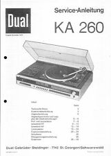 Dual Service Manual für KA 260