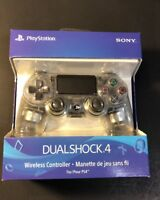 Official Sony PS4 DualShock 4 Wireless Controller v2 [ CRYSTAL CLEAR ] NEW