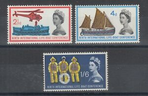 Great Britain Sc 395p-397p MLH. 1963 Life Boat Conference, Phosphor Tagging cplt