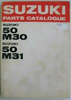 Suzuki 50 M30 50 M31 Jun 1968 Motorcycle Parts List