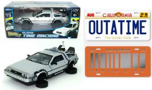 DeLorean Retour vers le Futur 2+ Les 2 Plaques du Film 1/24 Diecast Voiture PF13