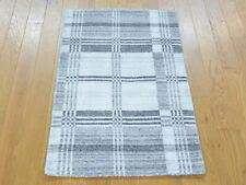 2'x3' 100% Wool Hand Loomed Modern Geometric Design Oriental Rug R23233