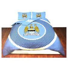 Manchester City Official Reversible Double Duvet Cover Set - Blue/white -