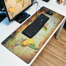 Large Gaming Mouse Pad Wolrd Map Big Size Desk Mat Office Keyboard Mat 90x 40cm
