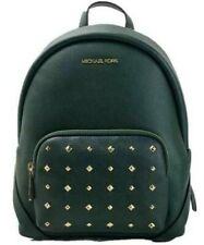 Michael Kors Erin Medium Studded Pebbled Leather Backpack Racing Green