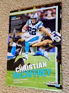 CHRISTIAN McCAFFREY rare poster CAROLINA PANTHERS football 2020 photo SI Kids