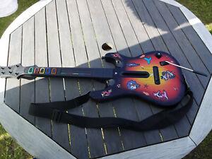 XBOX 360  Guitar Hero wireless Guitar red Octane